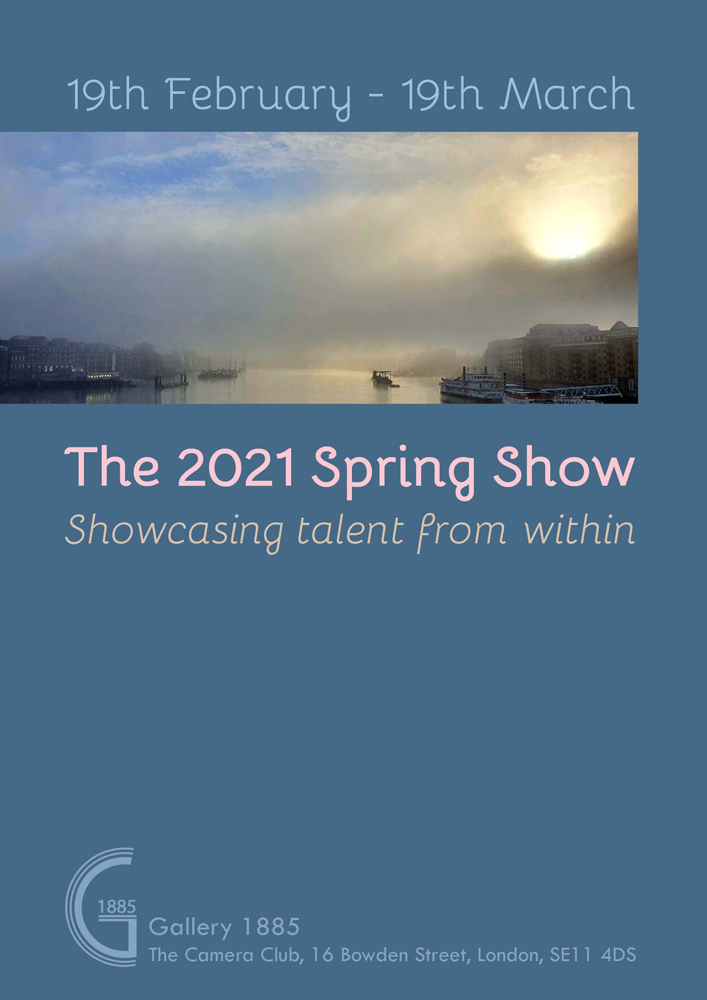 The 2021 Spring Show Gallery 1885 The Camera Club poster by Kate Coe